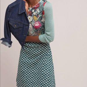 Anthropologie Flowerpot Sweater Dress